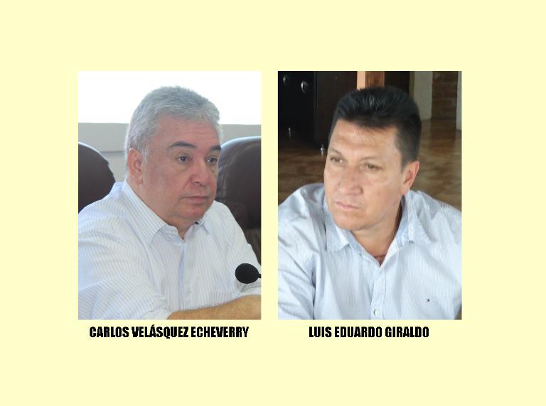 Concejalers Velásquez y Giraldo