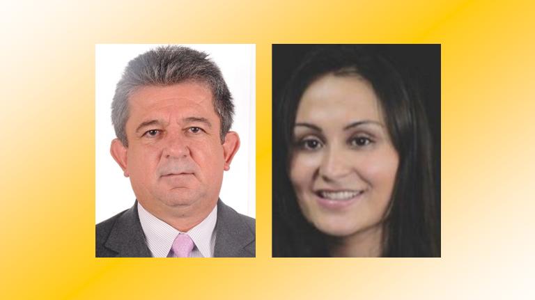 Didier Burgos y Andrea Soto