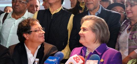 Clara López y Gustavo Petro junto a sectores democráticos 2